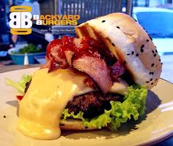 bb extra cheesy bacon burger backyard burgers