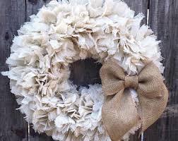 burlap wreath etsy