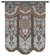 Wall Rugs Hanging Paradise Oriental Blue Ornamental Tapestry Wall Hanging Ethnic