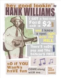 country music karaoke free hank williams hey good lookin country music poster 11x14 or