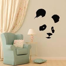stickers panda chambre bébé tête d mur autocollants panda adhésifs décoratifs pour la