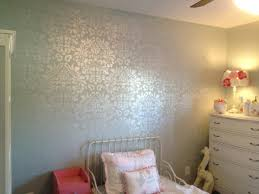 damask wall stencil with martha stewart pearl craft paint for