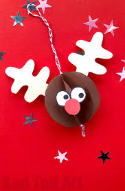 paper rudolph ornament ted s
