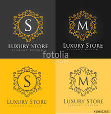 design logo elegant luxury letter logo simple and elegant floral design logo elegant