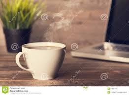 coffee on wooden office desk stock photo image 57897137