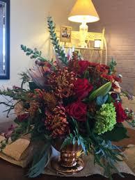 autumn flowers autumn greetings bouquet autumn flowers in a pedestal vase in