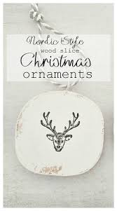 nordic style wood slice christmas ornaments kreativk