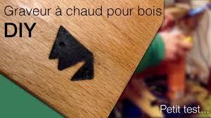 Porte Alliance Bois Graveur A Chaud Pour Bois Petit Test Diy Youtube