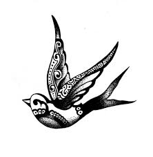 swallow bird tattoo like this but a cardinal in red one day