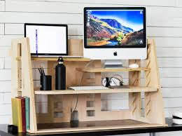 Ergonomic Sit Stand Desk by Innovative Design Of The Perch Desk Makes Standing Desks More