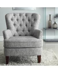 get the deal alcott hill brazell nailhead button tufted armchair