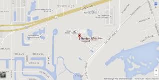 Map St Petersburg Florida by Racing Derby Lane