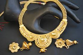 gold tone necklace set images Artificial gold tone studded necklace set with beaded chain jpg