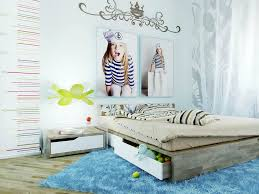 Bright Blue Rug Girls Bedroom Cute Colorful Teenage Bedroom Ideas With Girls