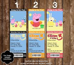 Invitation Card For Pool Party Novel Concept Designs Peppa Pig Birthday Pool Party Ticket