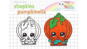 how to draw shopkins pumpkinella exclusive series one pumpkin