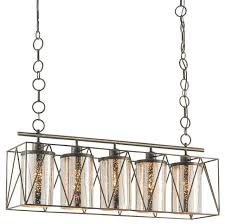 Currey And Company Lighting Currey And Company 9564 Marmande 5 Light Linear Chandelier