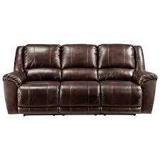Ashley Leather Sofa And Loveseat Signature Design By Ashley Yancy Leather Match Reclining Sofa