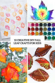 10 creative diy fall leaf crafts for kids shelterness