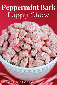 peppermint bark puppy chow your cup of cake