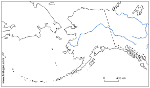 us state map with alaska free blank map of the rivers of alaska us state
