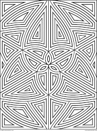Geometric Patterns Coloring Pages Free Printable Geometric