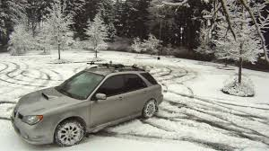 subaru station wagon wrx 2006 wrx wagon snowy parking lot youtube