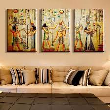 ancient egyptian home decor 3 piece abstract ancient egyptian decorative oil painting on