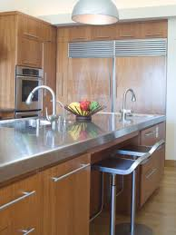 kitchen island with stainless steel top wood and stainless steel kitchen island