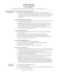 Resume Samples For Executives executive protection resume