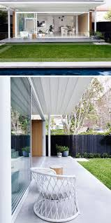 a contemporary addition opens this house to the backyard