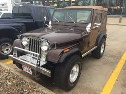 cj jeep lifted lot shots find of the week 1977 jeep cj 5 onallcylinders