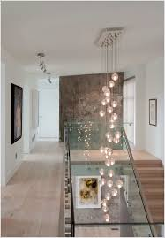 Cascading Chandelier by Contemporary Home Design Ideas With Wooden Staircase Combine Black