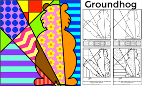 groundhog day free coloring sheet art with jenny k