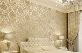embossed damask textured bedroom wallpaper nonwoven soft roll wall