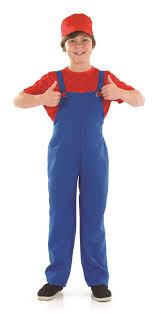 mario costume for toddlers boys plumbers mate super mario bros luigi 80s fancy dress costume