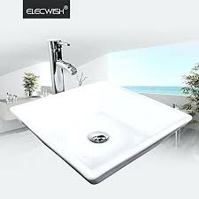 ceramic bathroom sinks pros and cons elecwish counter top porcelain ceramic vessel white square porcelain