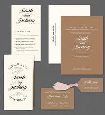 vera wang kraft wedding invitation suite available at honey paper