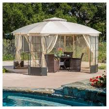 Patio Gazebo Westerly 13 X 13 Steel Patio Gazebo Camel Christopher