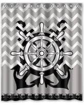 Gray Chevron Shower Curtain Nautical Polyester Gray Shower Curtains Bhg Com Shop