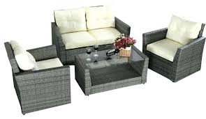 Outdoor Rattan Corner Sofa Broyerk 4 Piece Outdoor Rattan Patio Furniture Set Rattan