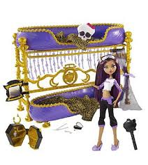 accessoire high pour chambre impression de l article lit et poupée clawdeen high jouet