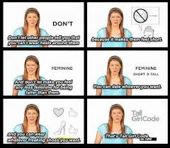 Tall People Problems Meme - tall girl code jokeitup com