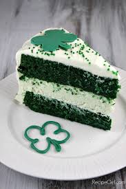 saint patrick day party ideas green velvet cheesecake cake and