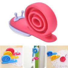 children kid safe snail shape door stops kawaii eva plastic baby