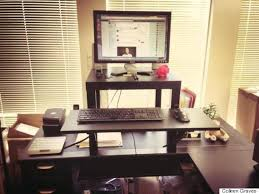 Build Your Own Stand Up Desk The Easiest And Cheapest Way To Get by This 22 Standing Desk Is The Ultimate Ikea Hack Huffpost
