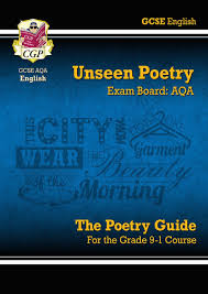 new grade 9 1 gcse english literature aqa unseen poetry guide