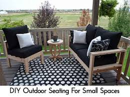 Outdoor Furniture Small Space Diy Outdoor Seating For Small Spaces Lil Moo Creations