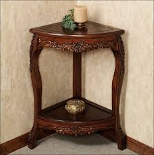 Pedestal Accent Table Furniture Amazing Vintage Corner Table Unfinished Accent Table