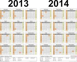 2013 2014 calendar free printable two year pdf calendars